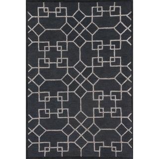 Hand-hooked Carolyn Charcoal/ Silver Rug (2'3 x 3'9)
