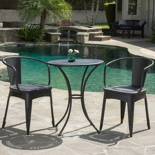 Lourdes Outdoor 3-piece Cast Bistro Set by Christopher Knight Home & Outdoor Bistro Sets For Less | Overstock