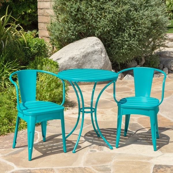 Colmar Outdoor 3-piece Bistro Set by Christopher Knight Home. Opens flyout.