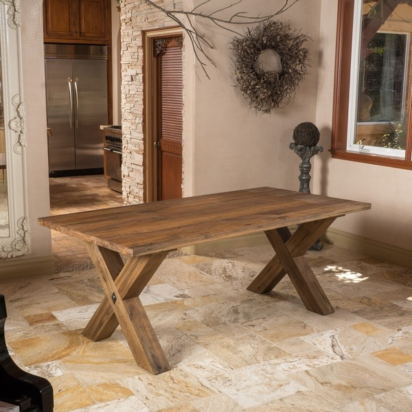 Travers Oak Wood Rectangle Dining Table ONLY By Christopher Knight Home