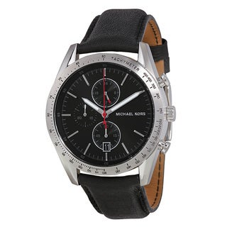 Michael Kors Men's Black Leather Watch