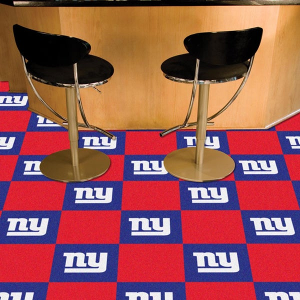 Fanmats New York Giants Blue and Red Carpet Tiles