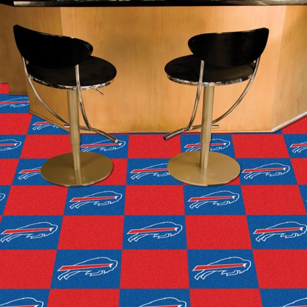 Fanmats Buffalo Bills Blue and Red Carpet Tiles