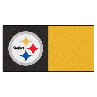 Fanmats Pittsburgh Steelers Black and Yellow Carpet Tiles