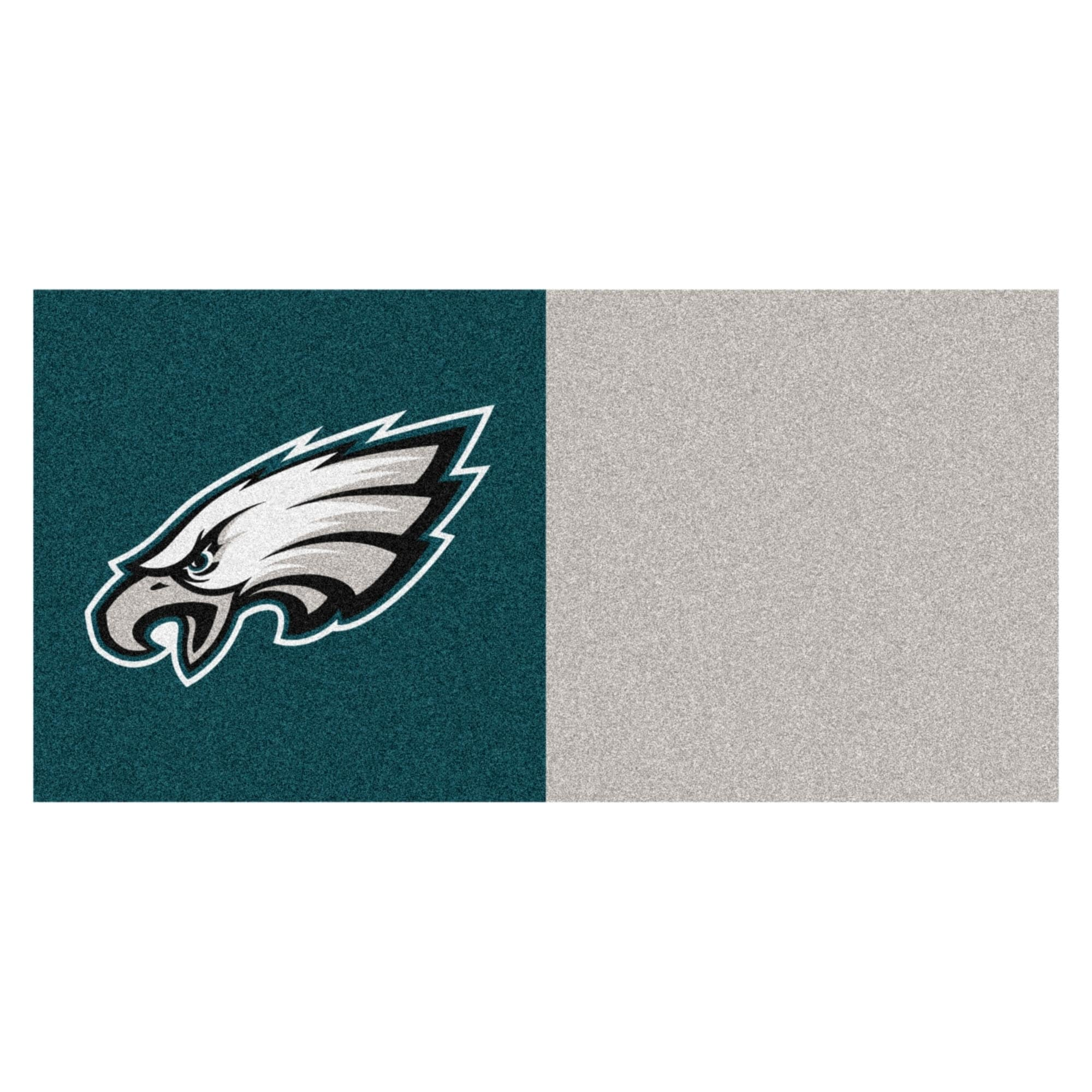 Fan Mats Philadelphia Eagles Teal and Grey Carpet Tiles (...