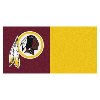 Fanmats Washington Redskins Burgundy and Gold Carpet Tiles