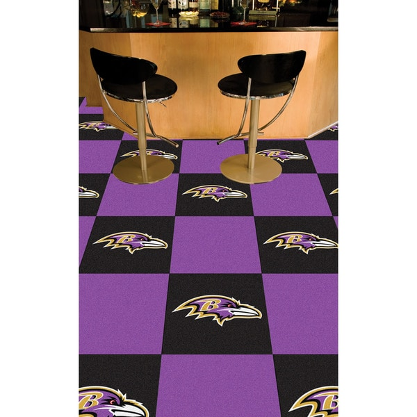 4630b7fa Fanmats Baltimore Ravens Black and Purple Carpet Tiles
