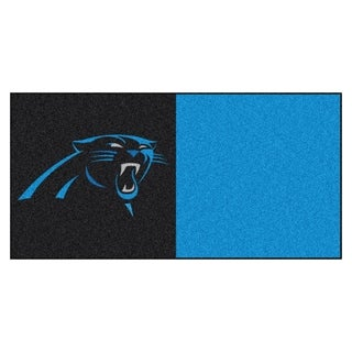 Fanmats Carolina Panthers Black and Turquoise Carpet Tiles