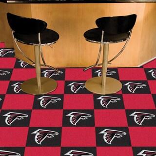 Fanmats Atlanta Falcons Black and Red Carpet Tiles