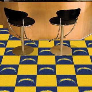 Fanmats San Diego Chargers Blue and Yellow Carpet Tiles