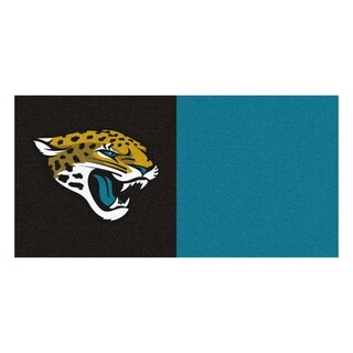 Fanmats Jacksonville Jaguars Black and Gold Carpet Tiles