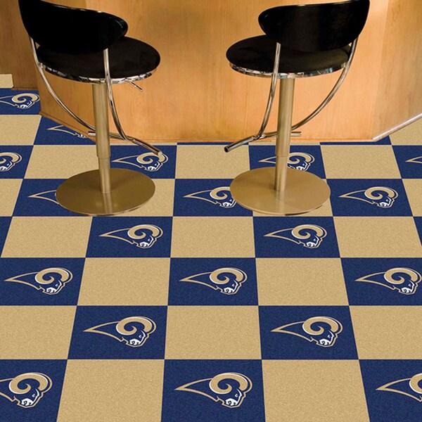Fanmats Los Angeles Rams Blue Carpet Tiles
