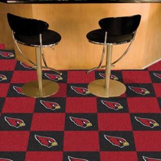 Fanmats Arizona Cardinals Black and Burgundy Carpet Tiles