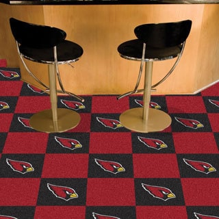 Fanmats Arizona Cardinals Black and Burgundy Carpet Tiles