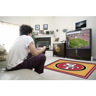 Fanmats San Francisco 49ers Gold Nylon Area Rug (4' x 6')