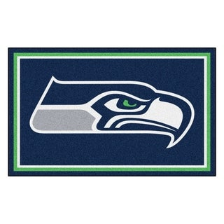 Fanmats Seattle Seahawks Blue Nylon Area Rug (4' x 6')