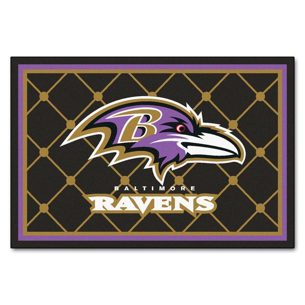 Fanmats Baltimore Ravens Black Nylon Area Rug (5' x 8')