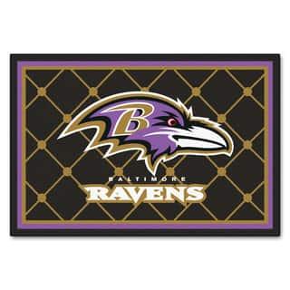 Fanmats Baltimore Ravens Black Nylon Area Rug (5' x 8')|https://ak1.ostkcdn.com/images/products/10527563/P17610335.jpg?impolicy=medium