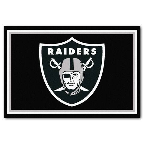 Fanmats Oakland Raiders Black Nylon Area Rug (5' x 8')