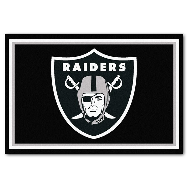 Fanmats Oakland Raiders Black Nylon Area Rug (5' x 8')