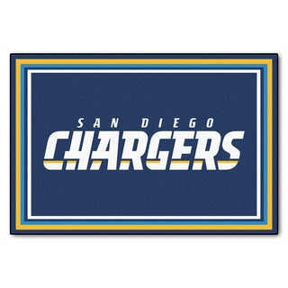 Fanmats San Diego Chargers Blue Black Nylon Area Rug (5' x 8')