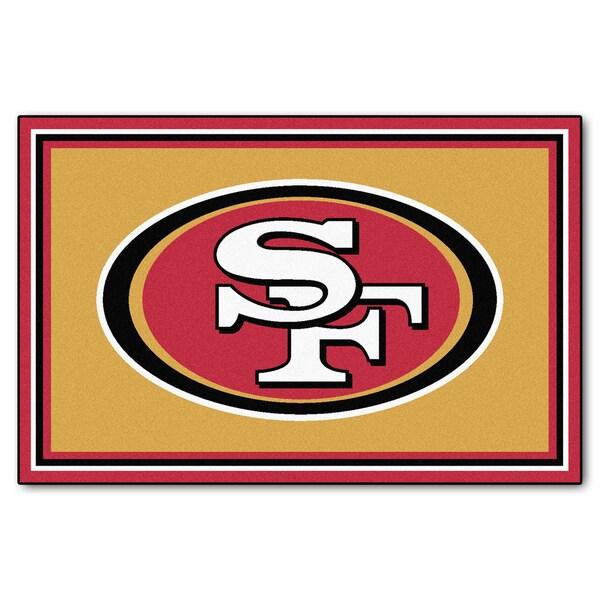 Fanmats San Francisco 49ers Gold Nylon Area Rug (5' x 8')