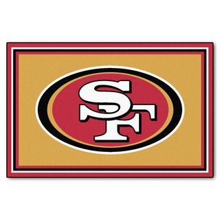 Fanmats San Francisco 49ers Gold Nylon Area Rug (5' x 8')