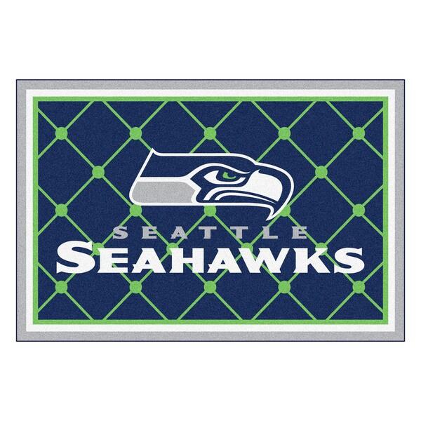 Fanmats Seattle Seahawks Blue Nylon Area Rug (5' x 8')