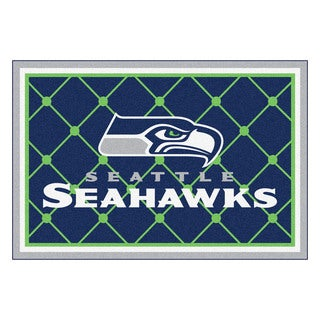 Fanmats Seattle Seahawks Blue Nylon Area Rug (5' x 8')