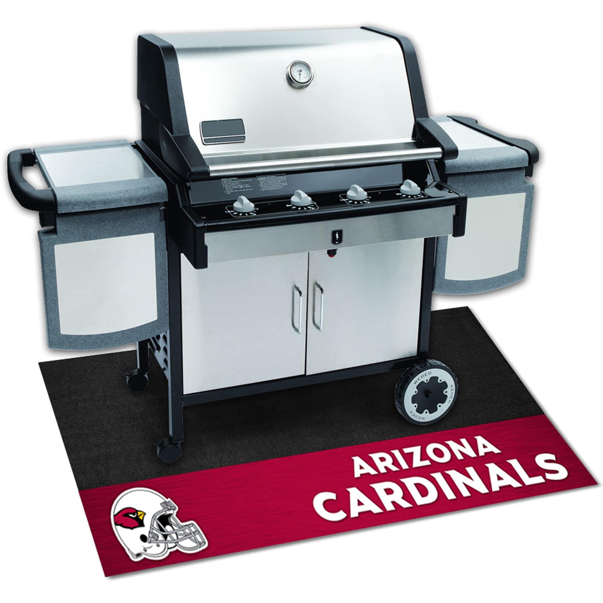 Fan Mats Arizona Cardinals Black Vinyl Grill Mat (26 inch...