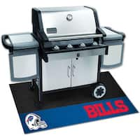 Fanmats Buffalo Bills Black Vinyl Grill Mat