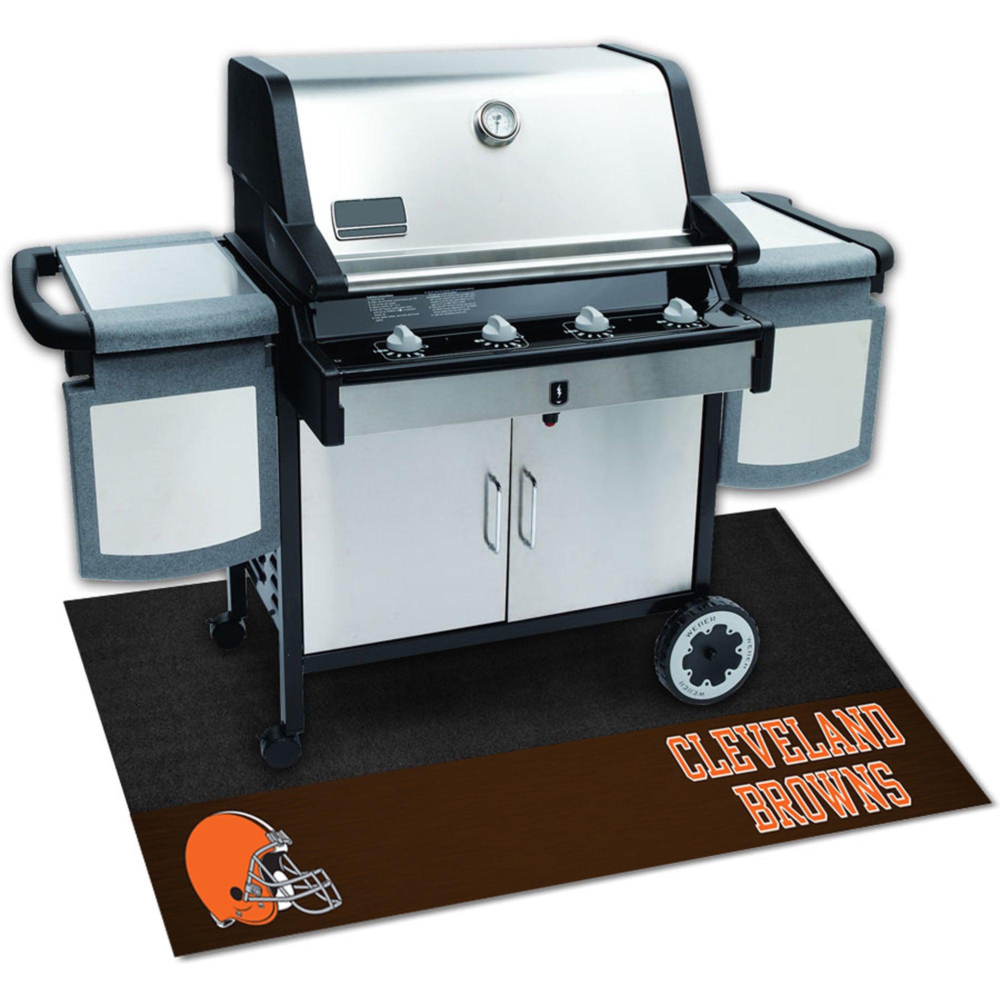 Fan Mats Cleveland Browns Black Vinyl Grill Mat (26 inche...