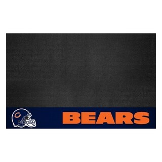 Fanmats Chicago Bears Black Vinyl Grill Mat