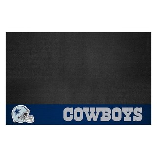 Fanmats Dallas Cowboys Black Vinyl Grill Mat