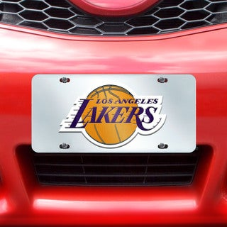 Fanmats Los Angeles Lakers Silver Acrylic Inlaid License Plate