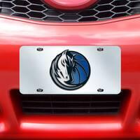 Fanmats Dallas Mavericks Silver Acrylic Inlaid License Plate