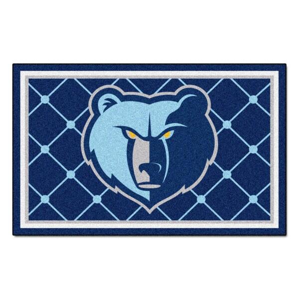 Fanmats Memphis Grizzlies Blue Nylon Area Rug (5' x 8')