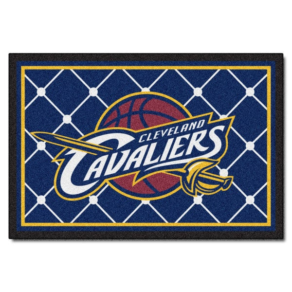 Fanmats Cleveland Cavaliers Blue Nylon Area Rug (5' x 8')