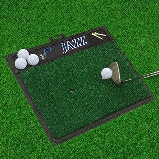 Fanmats Utah Jazz Black Rubber Golf Hitting Mat