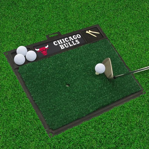 Fanmats Chicago Bulls Black Rubber Golf Hitting Mat