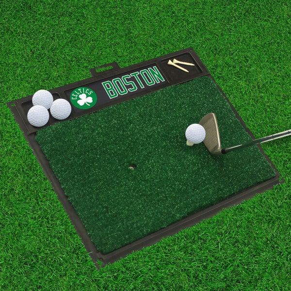Fanmats Boston Celtics Black Rubber Golf Hitting Mat