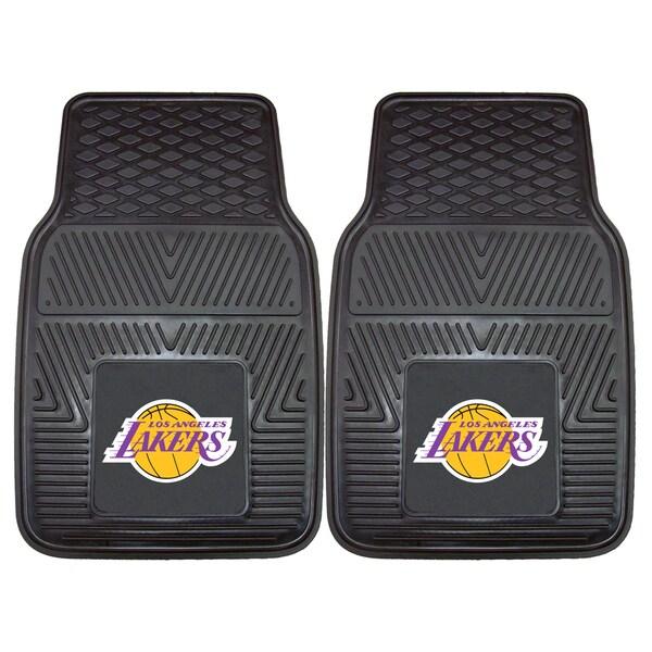 Fanmats Los Angeles Lakers Black Vinyl Car Mat Set