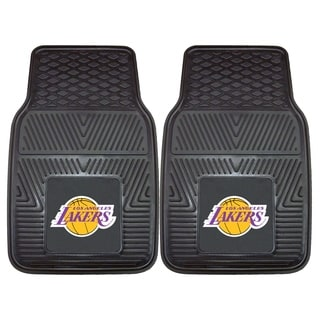 Fanmats Los Angeles Lakers Black Vinyl Car Mat Set