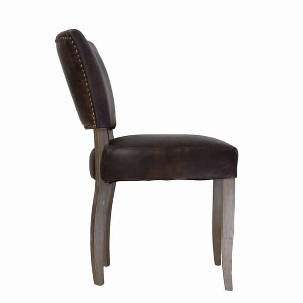 Stupendous Shop Handmade Adele Leather Dining Chair India Free Machost Co Dining Chair Design Ideas Machostcouk