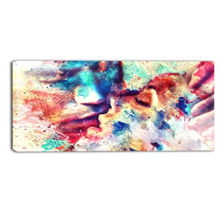 Design Art 'Mine' Sensual Canvas Art Print - 32x16 Inches