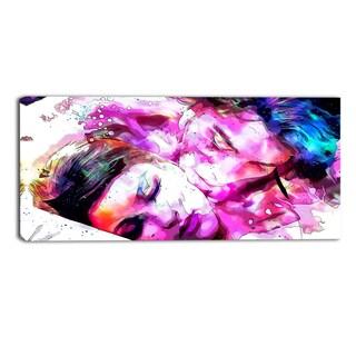 Design Art 'Sweet Dreams Together' Sensual Canvas Art Print - 32x16 Inches