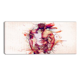 Design Art 'In My Heart' Sensual Canvas Art Print - 32x16 Inches