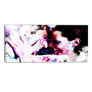 Design Art 'Always and Forever' Sensual Canvas Art Print - 32x16 Inches