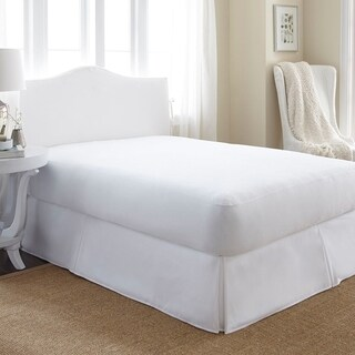 Soft Essentials Waterproof Terry Cotton Top Mattress Protector - White