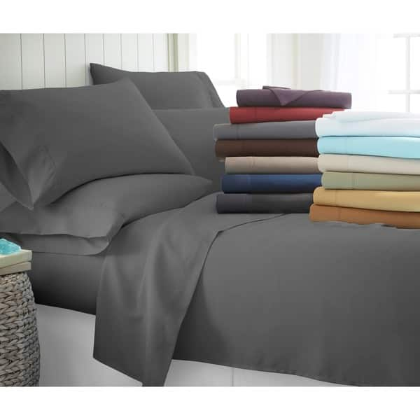 Soft Fitted Sheet Bed Sheets Bedding Cover Deep Pocket Bedspread King Queen